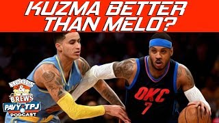 Better Player Now, Carmelo Anthony or Kyle Kuzma ? | Hoops N Brews