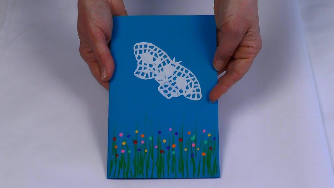 Favorit Comment faire une carte avec un papillon - YouTube PC44