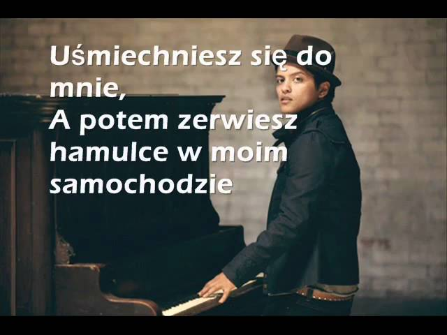 Bruno Mars Grenade Tlumaczenie Pl Youtube