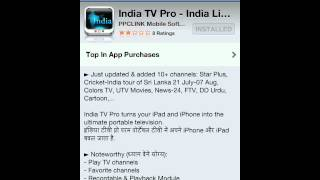 How to watch live Indian channels in your iPhone iPad iPod for free