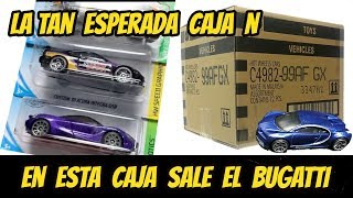 Caja N de hot wheels bugatti chiron | Custom Mexico