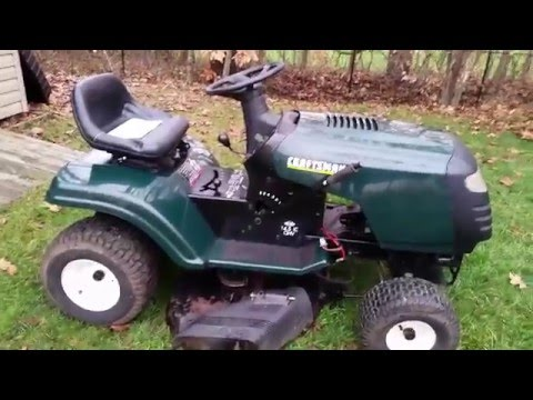 2015 Craftsman T1800 20HP Kohler V-Twin Riding Lawn Mower Review - Sears Lawn Tractor Review ...