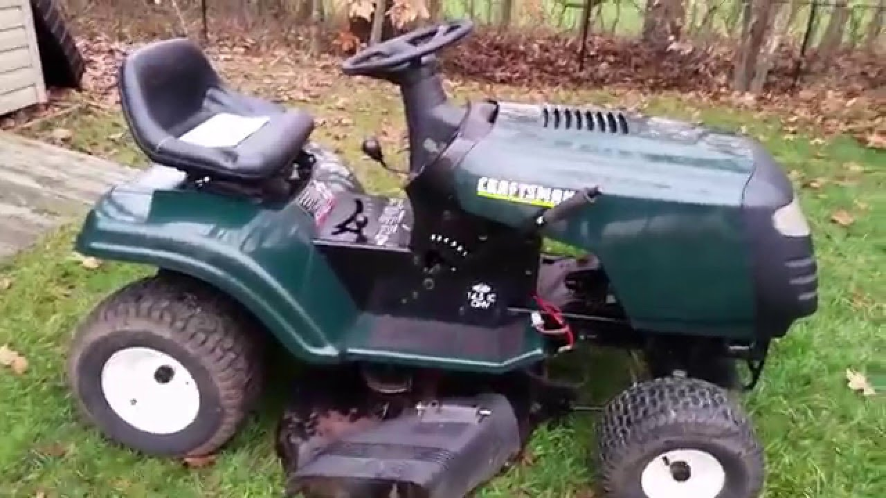Working on the Craftsman LT1000 Project Tractor -