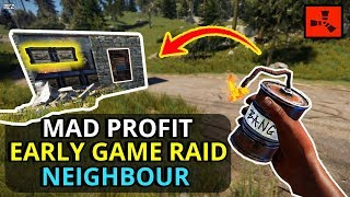 Rust EARLY GAME RAIDING For A TASTY SOLO PROFIT! - RUST SOLO