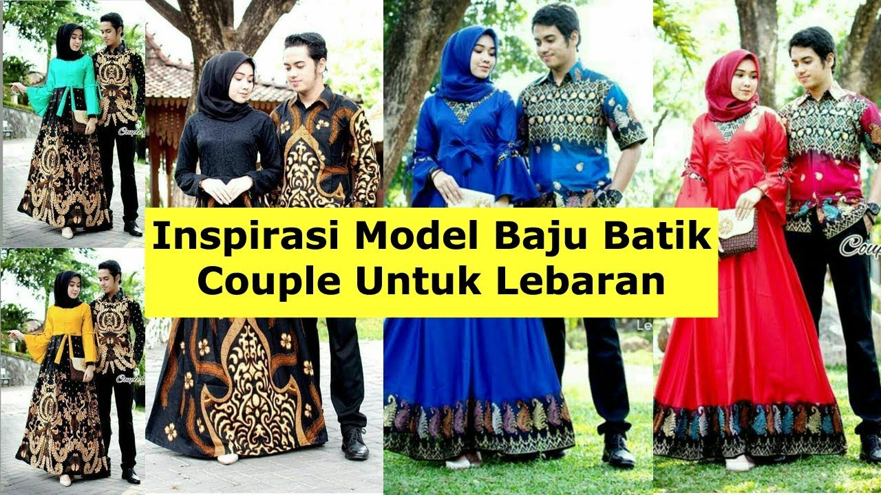 Model Baju Batik Couple Untuk Lebaran 2019