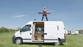 Created From a RECYCLED RV/Caravan ♻️ Cosy Self-Build VAN TOUR 🚐
