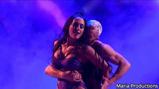 Nikki Bella and her partner dancing to Rey Mysterio's theme song on Dancing With The Stars