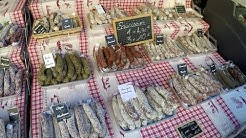 The Biggest Food and Flowers Market in Nice, France. Cours Saleya