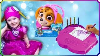 Тома и Игрушки Щенячий Патруль. Набор для творчества Скай - раскраска и карандаши. Видео для детей.