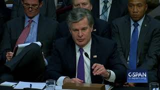 """FBI Director Wray: """"We actually have more than two investigations..."""" (C-SPAN)"""
