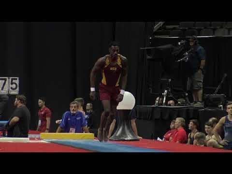 U.S. medalist Kiwan Watts is a survivor like his team, ASU men's gymnastics