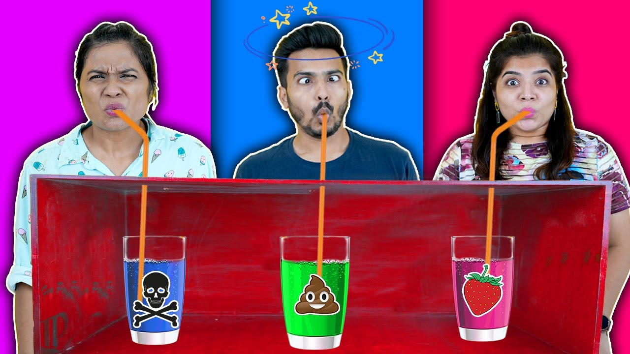 Mystery Drink Challenge | Weird Drink Challenge | Hungry Birds