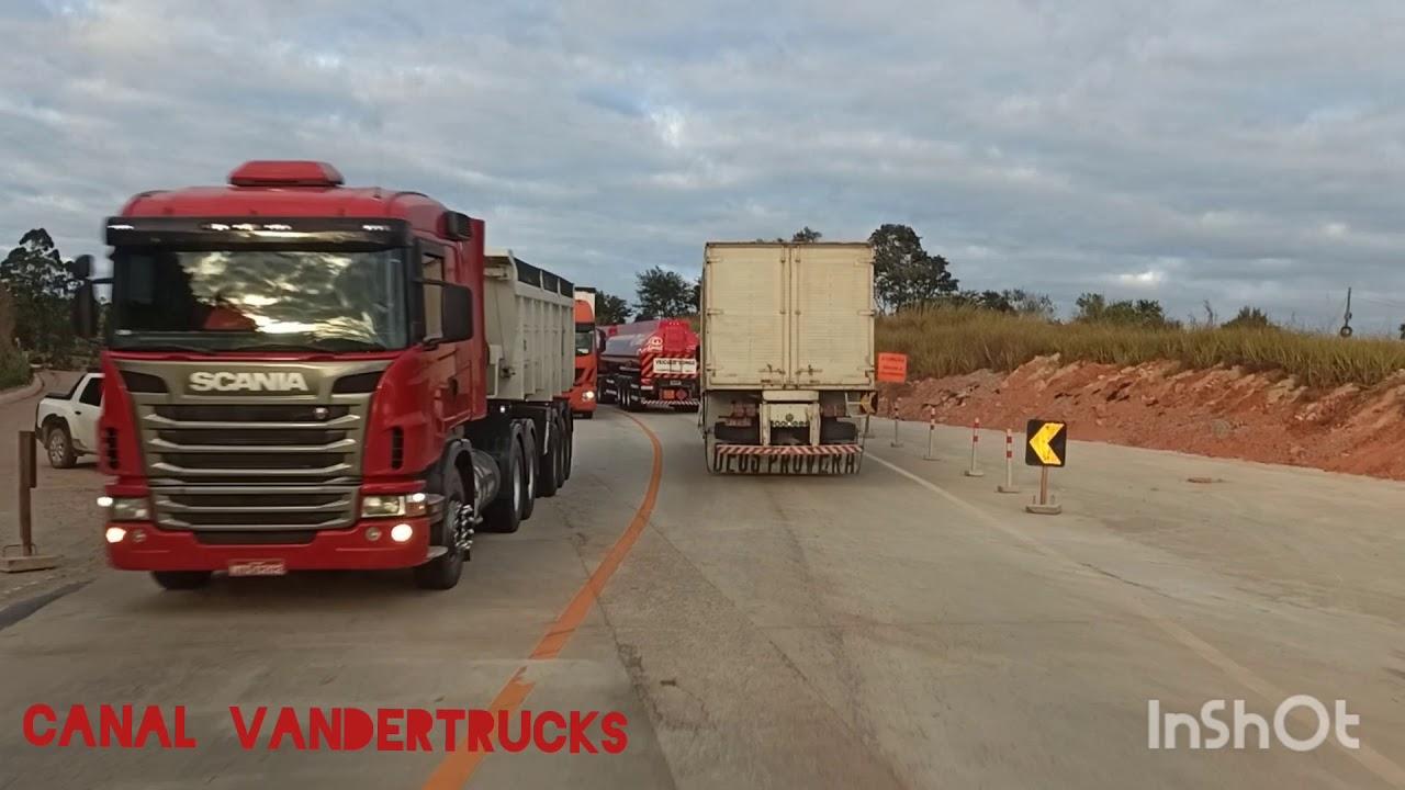 Obras BR 381: duplicação entre Nova União e o trevo de Taquaraçu MG data 08/07/2020
