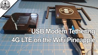 4G LTE Modem Tethering - WiFi Pineapple Mark V - Pineapple University