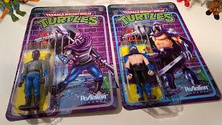 TMNT ReAction Figures Shredder & Foot Soldier !!!