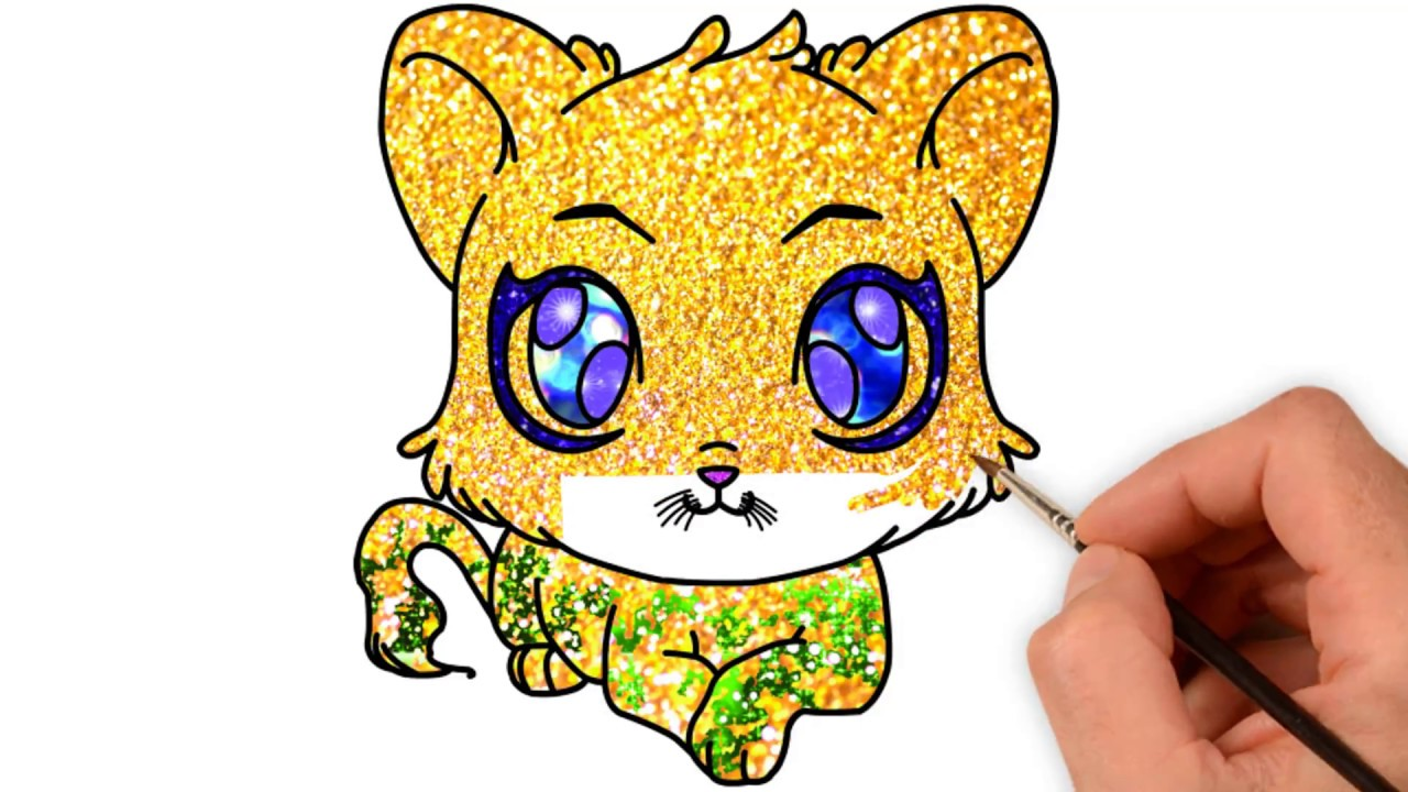 How to draw Cute Animals with Big Eyes Coloring Page ...
