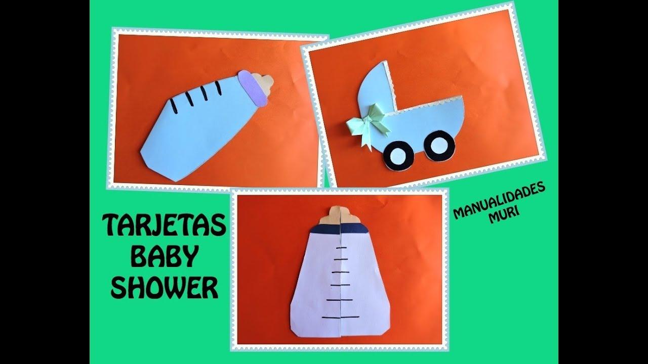 Ideas Tarjetas Baby Shower.3 Ideas Para Tarjetas Babyshower Diy