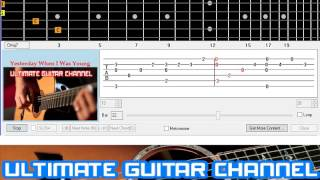 [Guitar Solo Tab] Yesterday When I Was Young (Charles Aznavour)