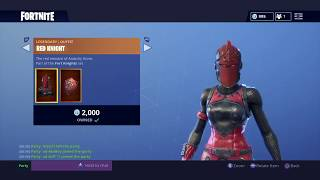 """Fortnite: How To Get """"RED KNIGHT"""" Skin For FREE! - (Fortnite Daily Item Shop August 9th)"""