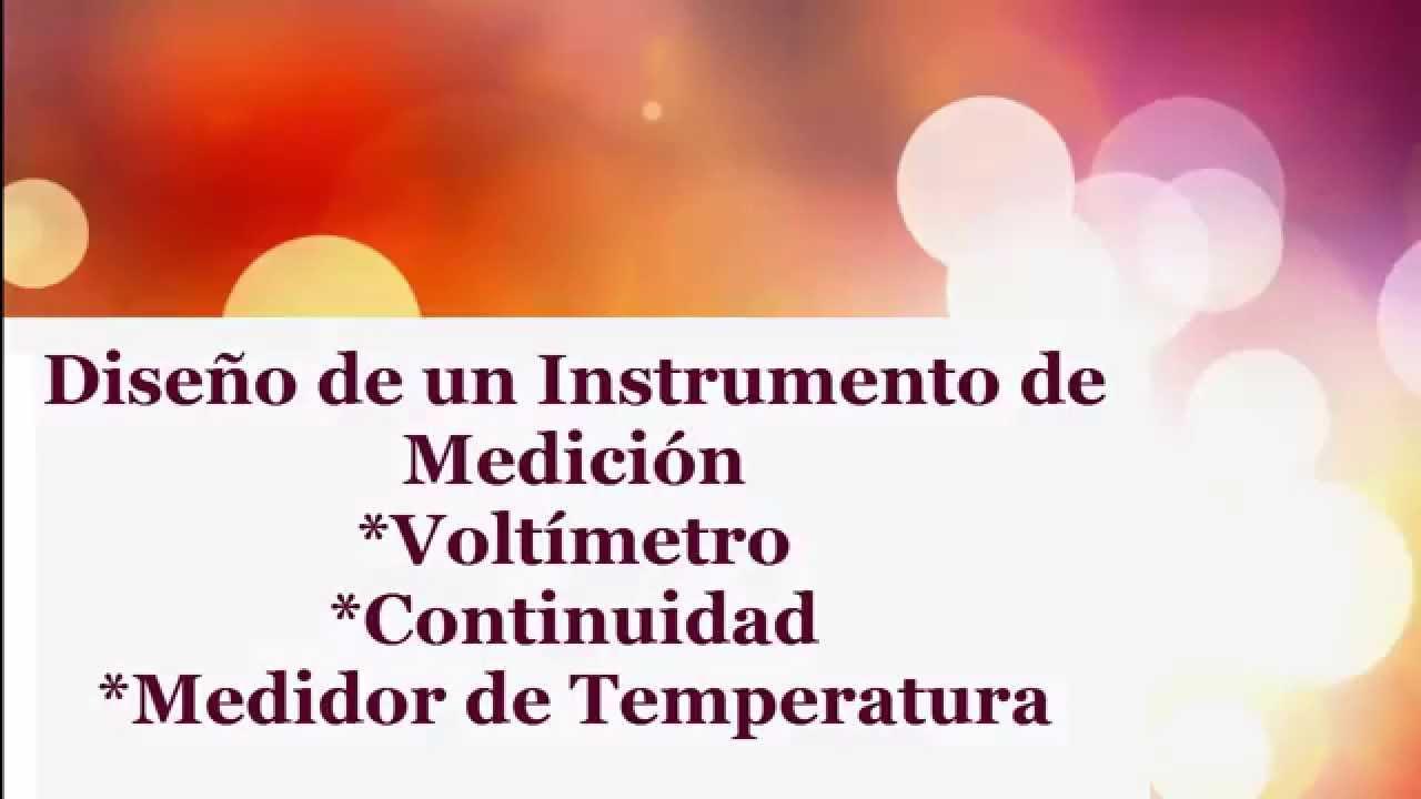 Instrumento de medici n volt metro continuidad y medidor - Medidor de temperatura ...