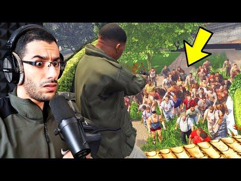 إنقاذ منزل مايكل من هجوم الزومبي في لعبة جي تي أي 5   GTA V Zombie Apocalypse Mod