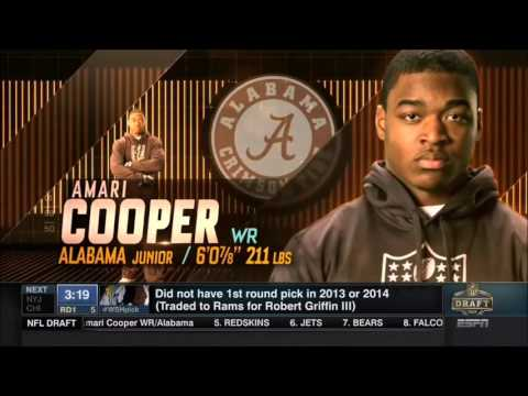 2015 NFL Draft Rd 1 Pk 4 | Oakland Raiders Select WR Amari Cooper
