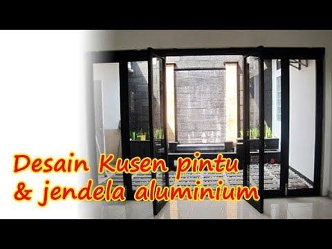Contoh Desain Kusen pintu & jendela aluminium minimalis