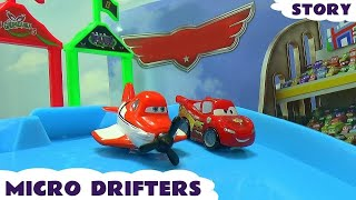 Disney Planes Cars Micro Drifters Thomas The Tank Engine Race Story Blind Bag Opening Dusty