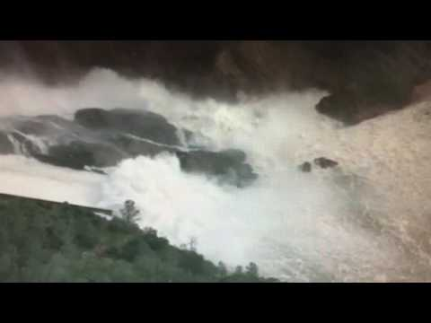 Oroville dam water output beyond normal parameters