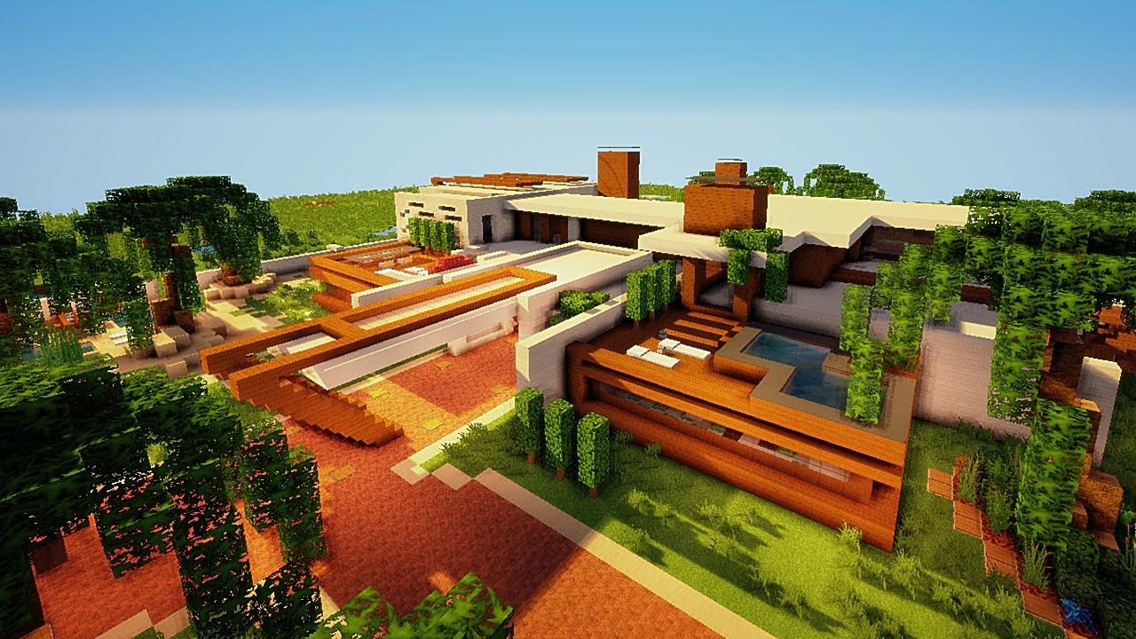Minecraft maison moderne du desert par im2gr84u youtube for Maison moderne dans minecraft