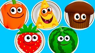 Fun Baby Colors Kids Games -  Play Amazing Color Foods To Learn Color Number Shapes In Funny Food 2