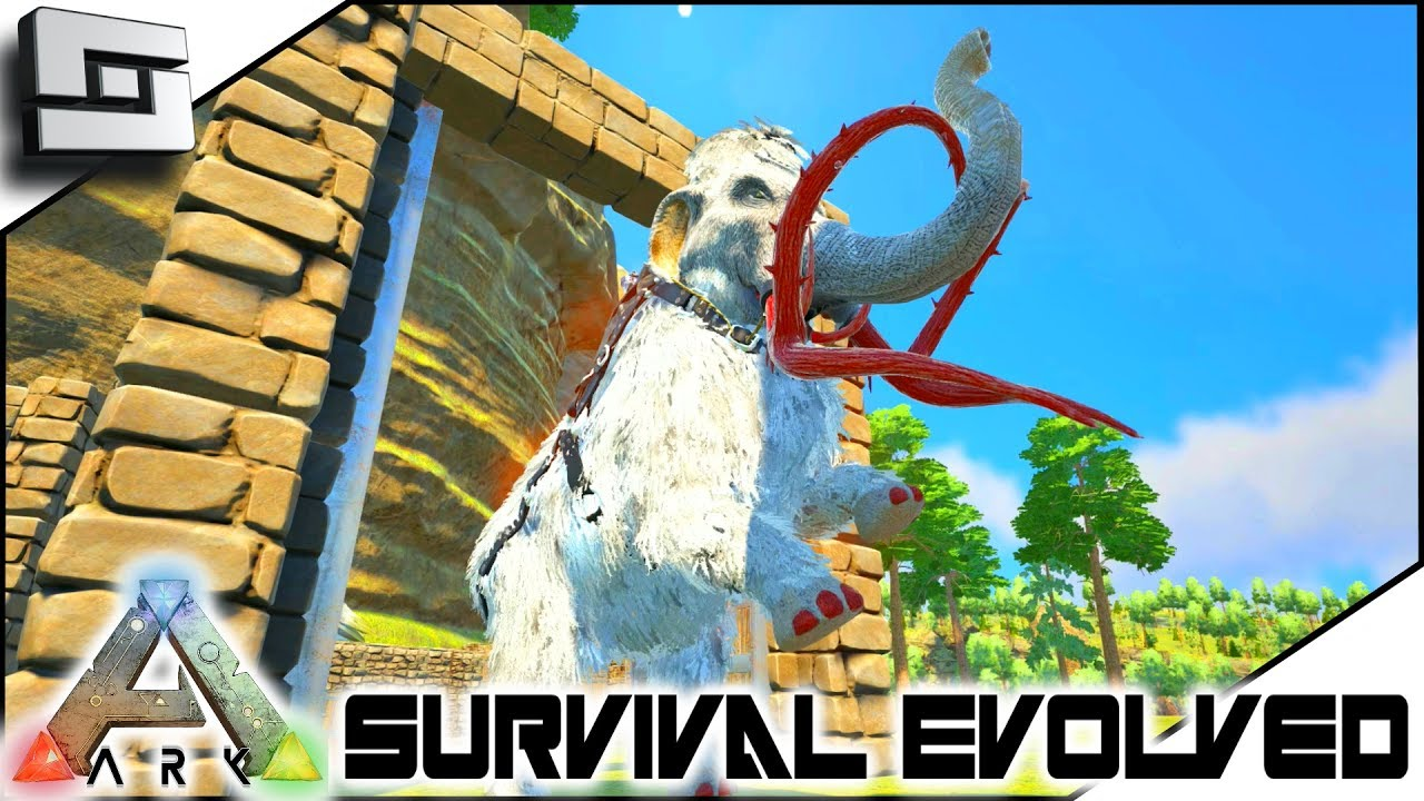 ARK: Survival Evolved - ALPHA MAMMOTH TAMED! S2E5 ( Modded Ark