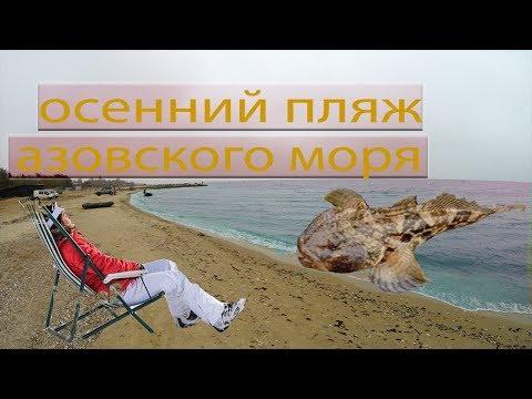 Осенний пляж азовского моря,закаливание,бычки ,лиман
