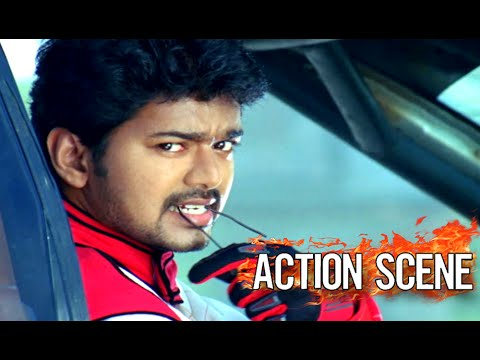 Vijay Mass Scene || Car Racing Video ||...