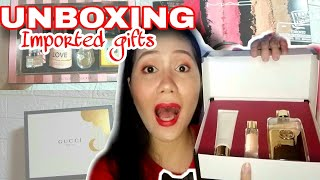 Unboxing Imported Gifts Gucci, Victoria's Secret, Mac And Jimmy Choo   Noemie Grace Esber