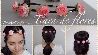 CORONA / DIADEMA DE FLORES ELASTICA - FLOWER CROWN