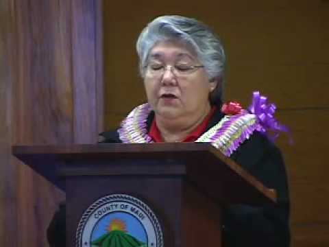 3-Maui Mayor Charmaine Tavares State of the County Address - 02/26/08 - Part 3 of 4