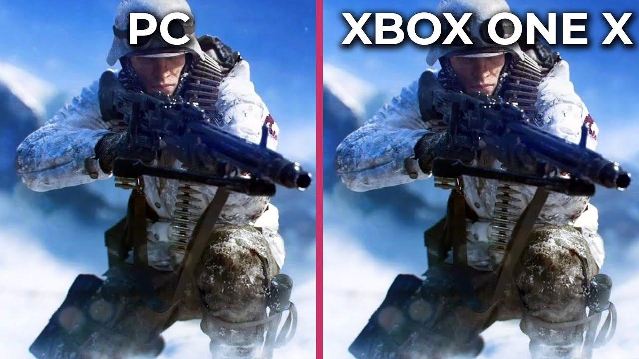 Battlefield 5 – PC 4K Ultra vs  Xbox One X Graphics Comparison
