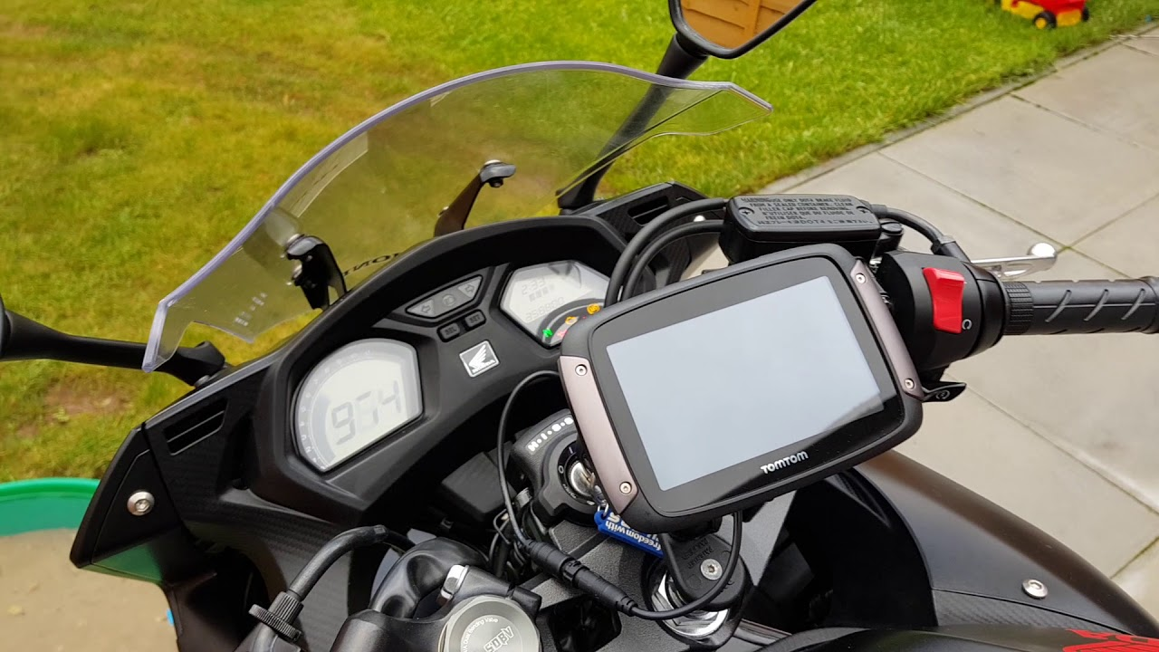 honda cbr650f 2017 full sat nav mount install wiring guide tomtom rider 42 part2 [ 1280 x 720 Pixel ]