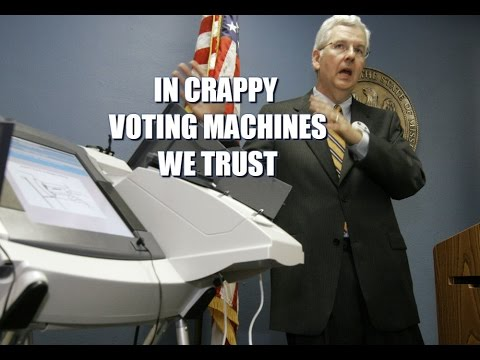 Our Voting Machines Aren't Just Hackable, They're Also Pieces Of Crap