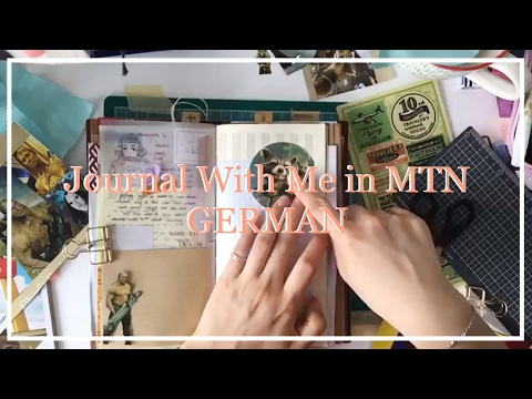 [German] Journal With Me in Midori Traveler's Notebook