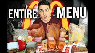 10,000 Calorie Cheat Day| McDonalds entire menu challenge