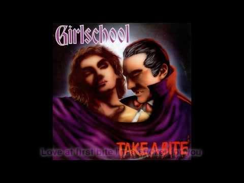 Girlschool - Love At First Bite (HQ Lyrics)