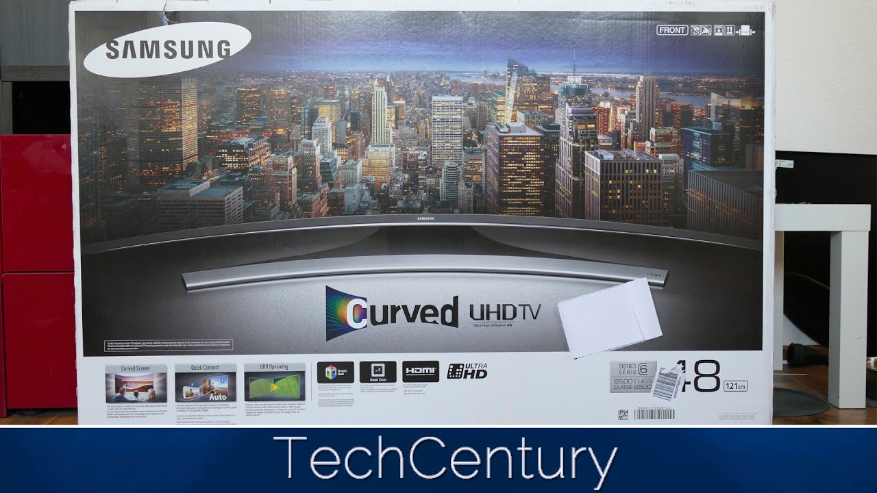 samsung tv box 55. 2015 samsung ue48ju6550 unboxing and first look / 4k curved tv 6500 series - youtube tv box 55 e