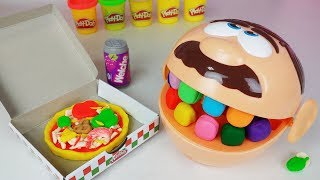 Play Doh Dentist and Play doh Pizza food cooking toys Crong pororo Baby Doll play 플레이도우 피자 장난감 - 토이몽