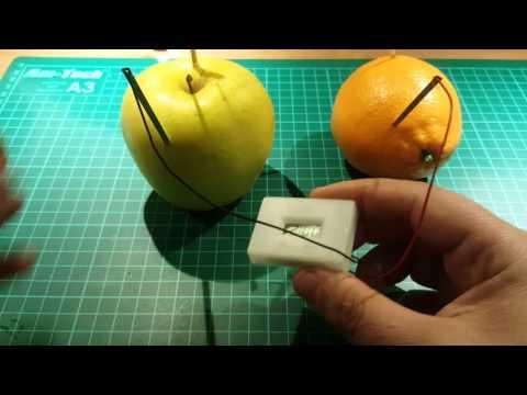 Energia da un arancio e da una mela  Cute Potato Clock Science