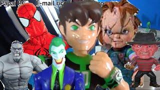 Ben 10 boneco Spider Man Hulk Marvel X Chucky Freddy Krueger Coringa Bane Brinquedos Toys Kids おもちゃ