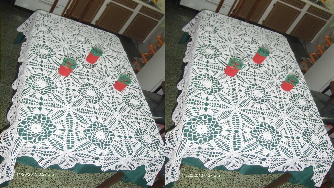 Como tejer manteles de mesa nuevos modelos tejidos a - Manteles para mesa ...