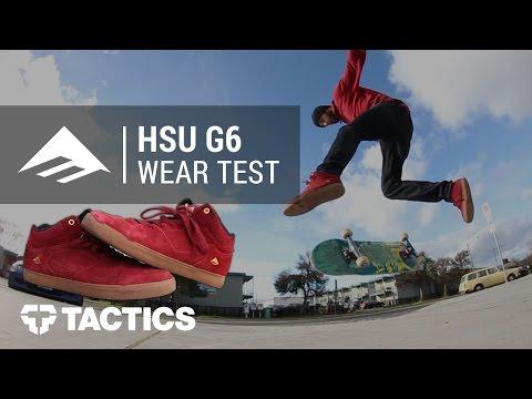 73fe919e9bc Emerica Hsu G6 Skate Shoes Wear Test Review - Tactics.com