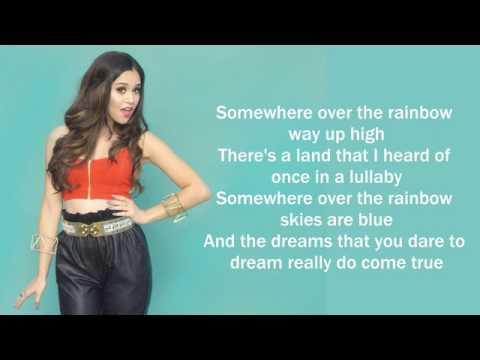 Somewhere Over The Rainbow   Megan Nicole cover Lyrics   YouTube